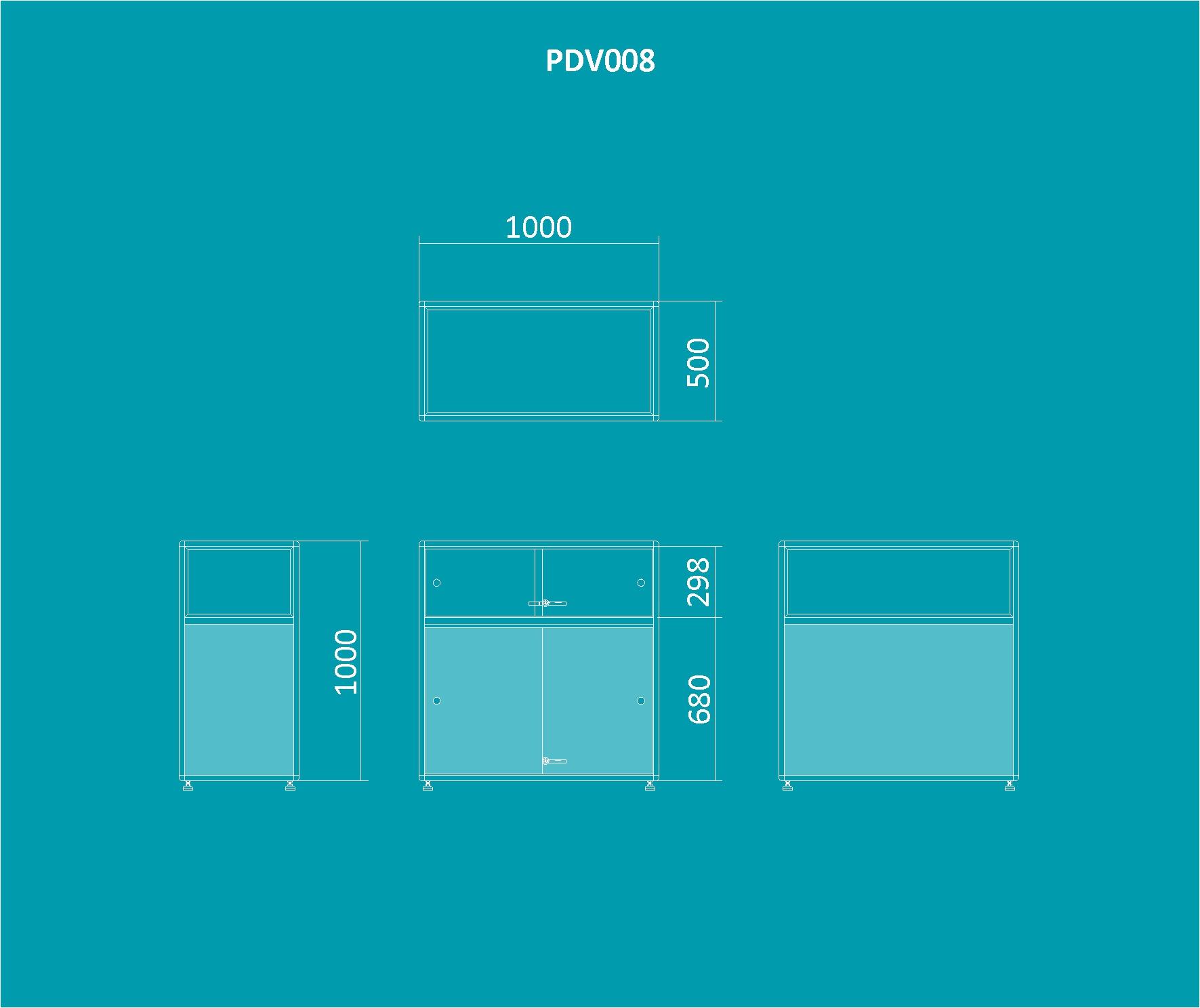 PDV 008 - Balcão expositor 1000mm de altura