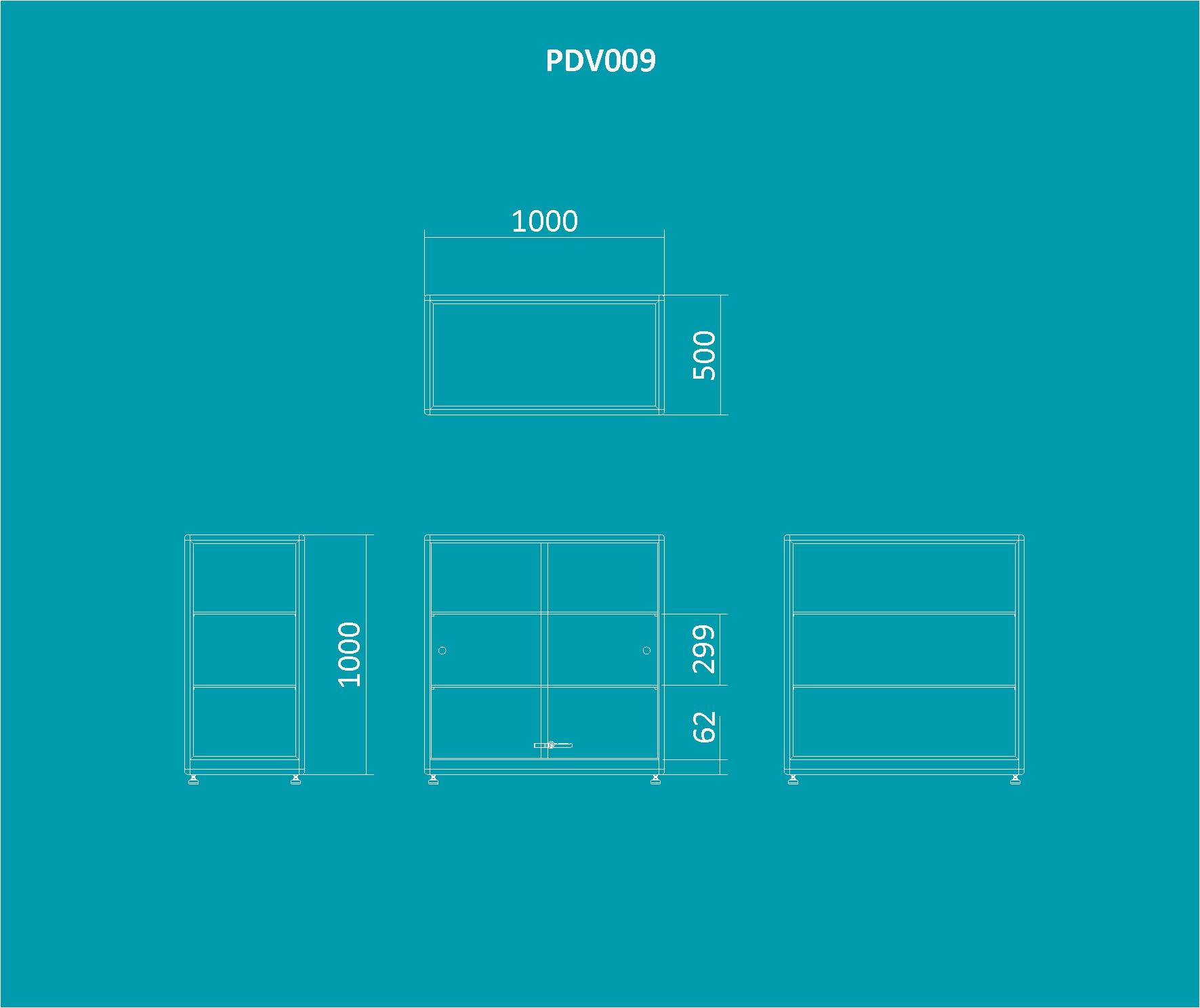 PDV 009 - Balcão expositor 1000mm de altura